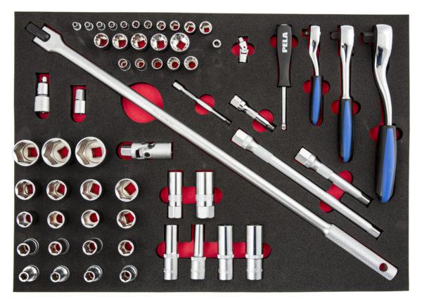 Tool sets in EVA insert trays